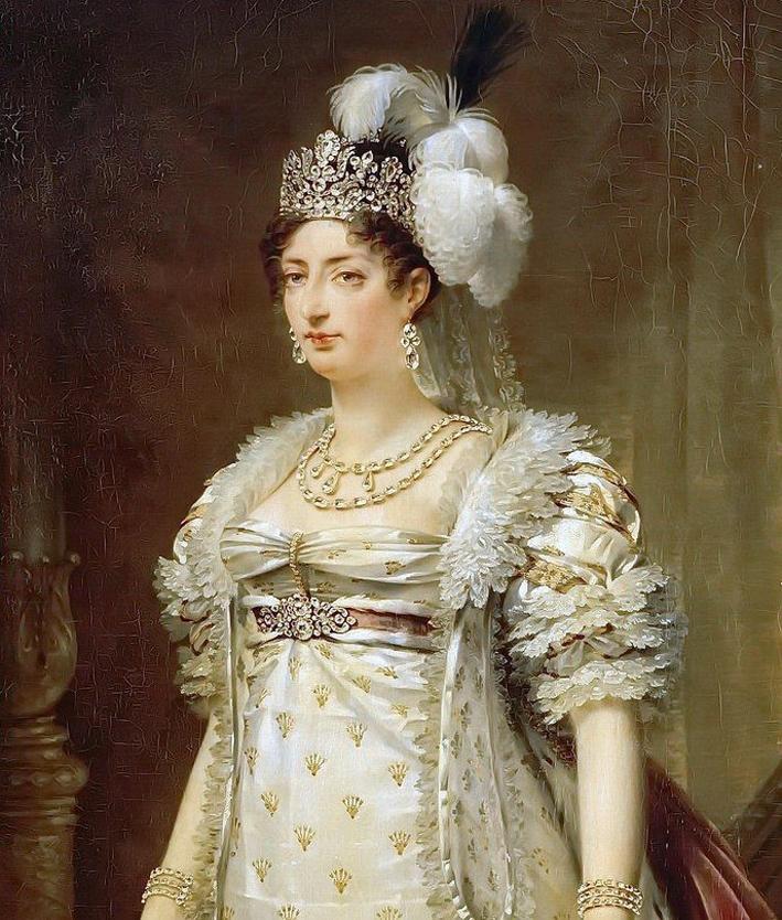 Maria Antonietta, ritratta da Antoine Jean-Gros, indossa i due bracciali di diamanti